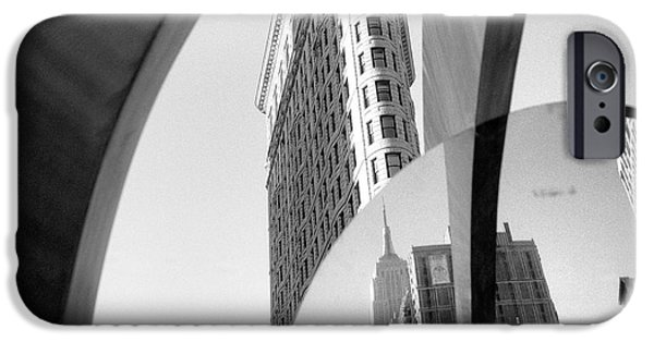 IPhone 6 Case featuring the photograph Flat Iron Building Empire State Mirror by Dave Beckerman