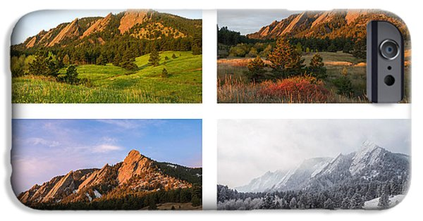 Flatirons Four Seasons With Border IPhone 6 Case