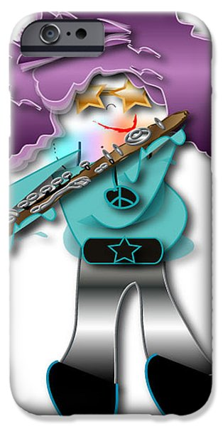 IPhone 6 Case featuring the digital art Flute Player by Marvin Blaine