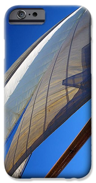 Sailboats iPhone Cases - Flying Jibs iPhone Case by Bill Caldwell -        ABeautifulSky Photography