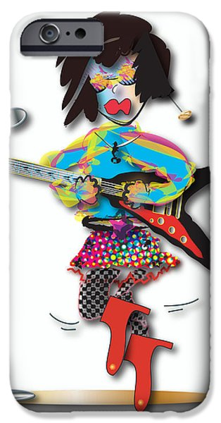 IPhone 6 Case featuring the digital art Flying V Girl by Marvin Blaine