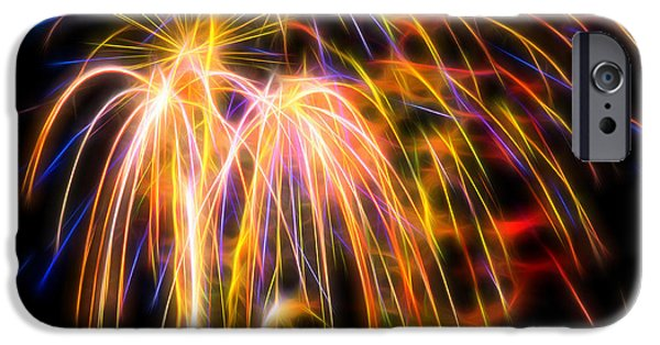 IPhone 6 Case featuring the photograph Colorful Fractal Fireworks #1 by Yulia Kazansky