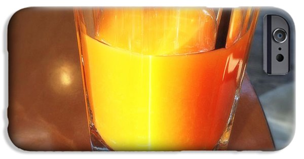 Bright iPhone 6 Case - Glass With Orange Fruit Juice by Matthias Hauser