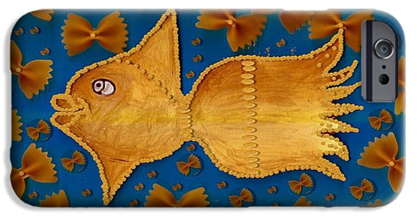 Goldfish Mixed Media iPhone Cases - Glowing  Gold Fish iPhone Case by Pepita Selles