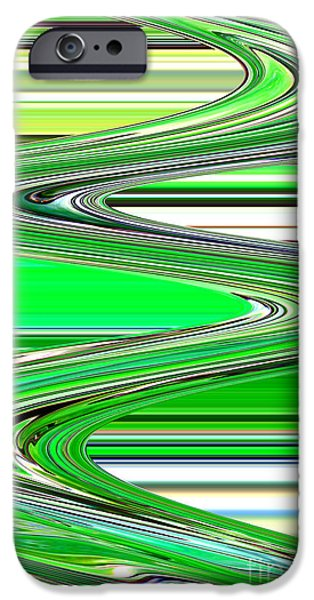 Abstract Digital Photographs iPhone Cases - Go with the Flow iPhone Case by Carol Groenen