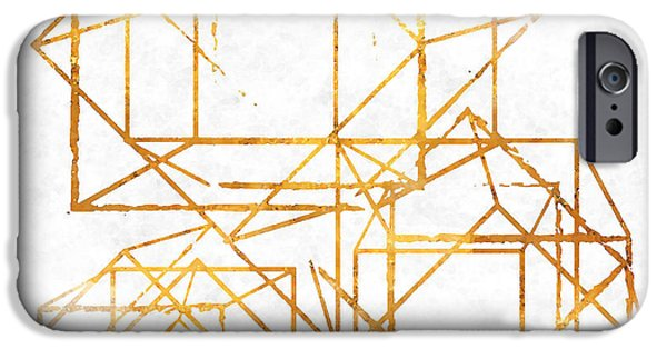 Pattern iPhone 6 Case - Gold Cubed I by South Social Studio
