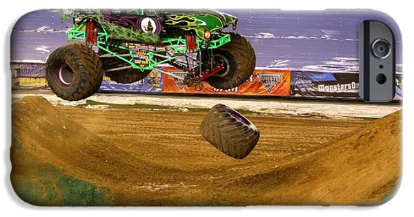 Grave Digger Loses A Wheel IPhone 6 Case by Nathan Rupert