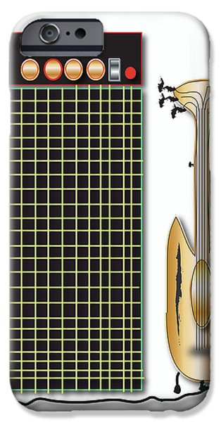 IPhone 6 Case featuring the digital art Guitar And Amp by Marvin Blaine