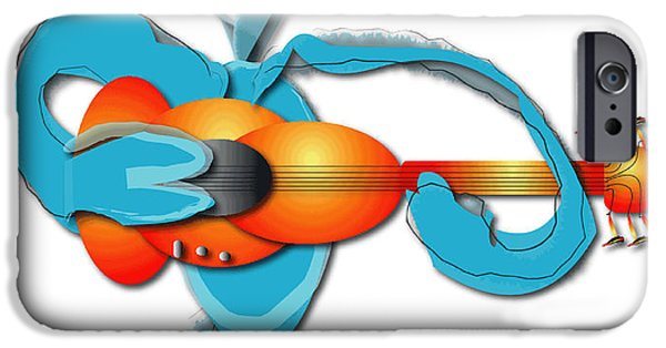 IPhone 6 Case featuring the digital art Guitar Rocker by Marvin Blaine