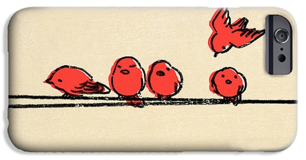 Red iPhone 6 Case - Hanging Out by Eric Fan
