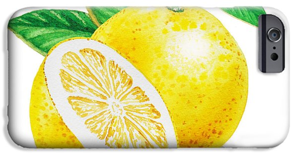 IPhone 6 Case featuring the painting Happy Grapefruit- Irina Sztukowski by Irina Sztukowski
