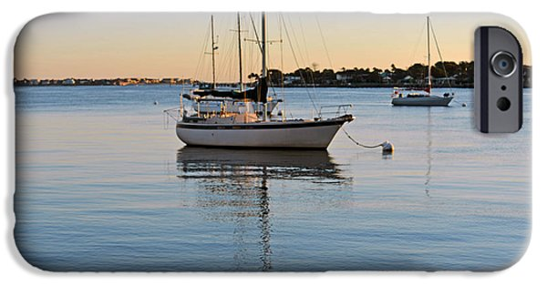 IPhone 6 Case featuring the photograph Harbor Sunrise by Anthony Baatz