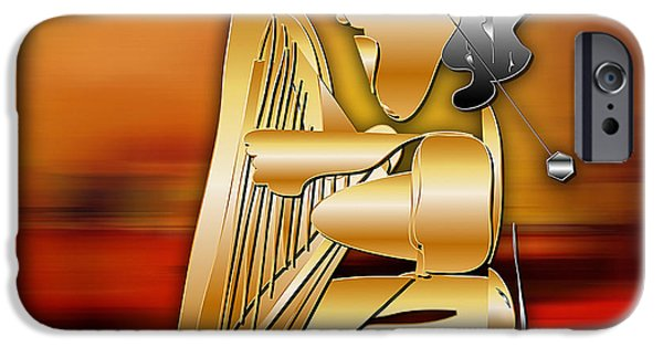 IPhone 6 Case featuring the digital art Harp Player by Marvin Blaine