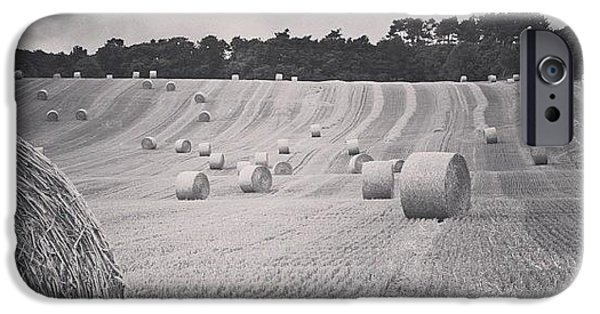 Summer iPhone 6 Case - #haybales #summer #france by Georgia Fowler