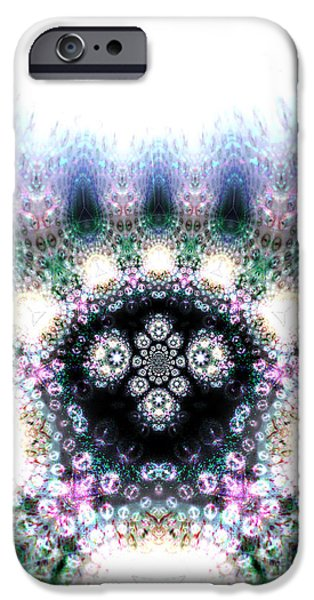 Psychedelic iPhone Cases - Heaven and Earth iPhone Case by Aeres Vistaas