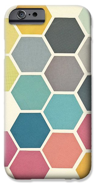 Retro iPhone 6 Case - Honeycomb II by Cassia Beck