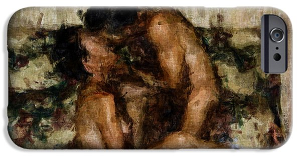 Nude Figurative iPhone 6 Case - I Adore You by Kurt Van Wagner