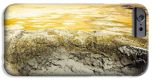 Orange iPhone 6 Case - Iceland Geothermal Area Hverir Namaskard by Matthias Hauser