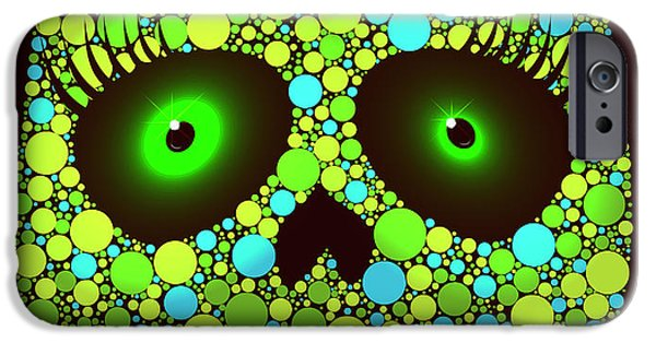 Illusion iPhone 6 Case - Illustration Of Skull Made With Colored by Ola-ola