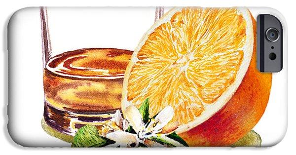 IPhone 6 Case featuring the painting Irish Whiskey And Orange by Irina Sztukowski