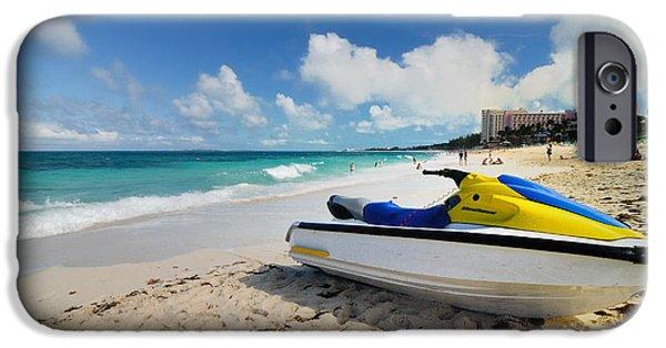Jet Ski iPhone 6 Case - Jet Ski On The Beach At Atlantis Resort by Amy Cicconi