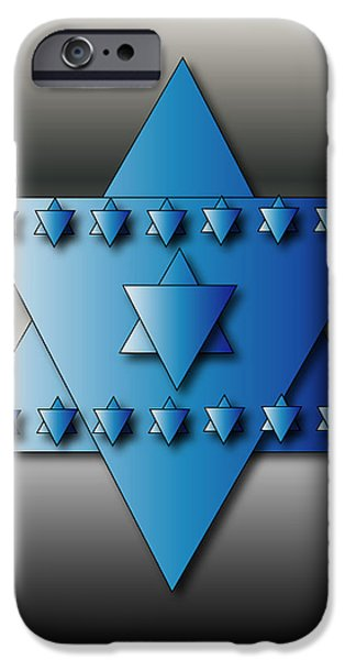IPhone 6 Case featuring the digital art Jewish Stars by Marvin Blaine