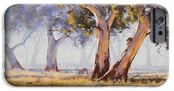 Tree iPhone 6 Case - Kangaroo Grazing by Graham Gercken