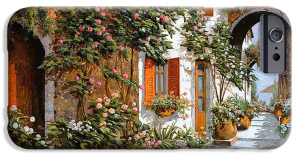Village iPhone 6 Case - La Strada Al Sole by Guido Borelli