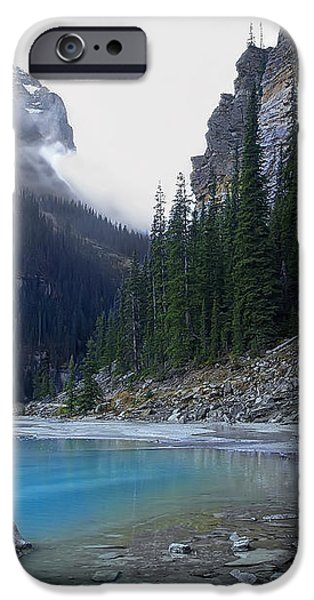 LAKE LOUISE NORTH SHORE - CANADA ROCKIES iPhone Case by Daniel Hagerman