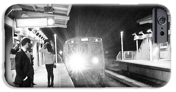 Late Night On The Red Line IPhone 6 Case by Jill Tuinier