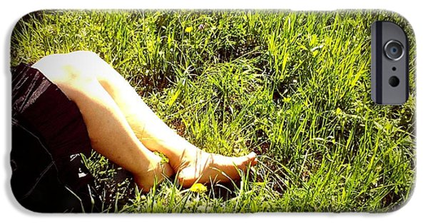 Legs Of A Woman And Green Grass IPhone 6 Case
