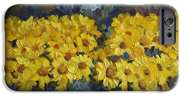 `les iPhone Cases - Les Valayans Sunflowers iPhone Case by Diane McClary