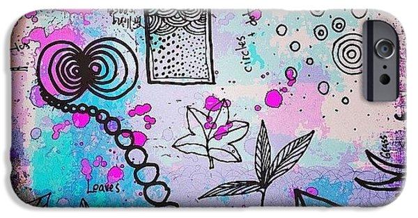 #line #color #shape #design #doodles IPhone 6 Case