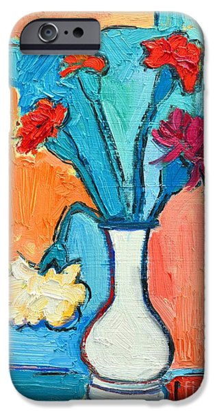 LITTLE CARNATIONS CHINA PINK FLOWERS iPhone Case by ANA MARIA EDULESCU