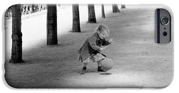 IPhone 6 Case featuring the photograph Little Girl With Ball Paris by Dave Beckerman