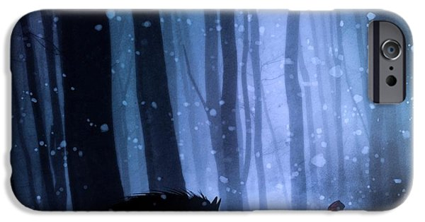 Fairy iPhone 6 Case - Little Red Riding Hood by Sebastien Del Grosso