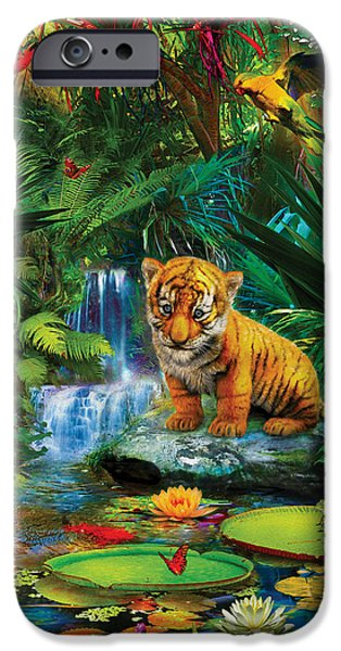IPhone 6 Case featuring the drawing Little Tiger by Jan Patrik Krasny