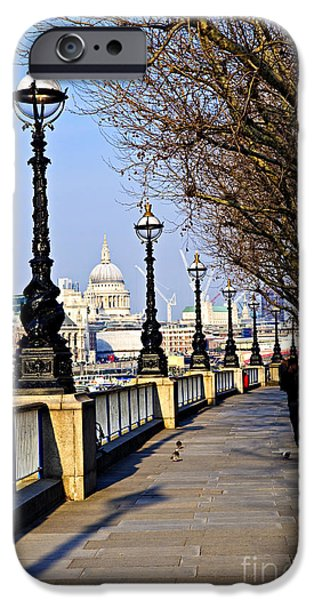 United iPhone Cases - London view from South Bank iPhone Case by Elena Elisseeva