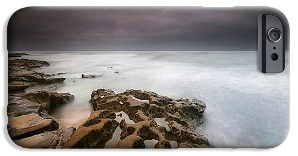Long Exposure Sunset On A Dark Stormy IPhone 6 Case by Larry Marshall