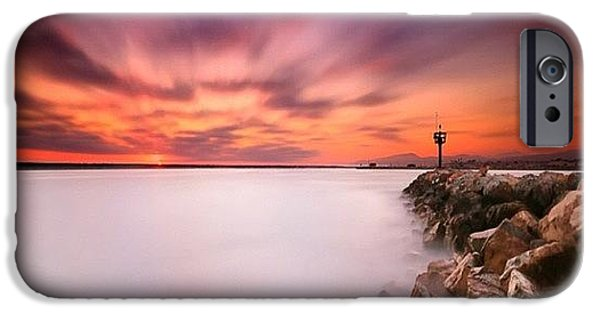 Long Exposure Sunset Shot At A Rock IPhone 6 Case by Larry Marshall