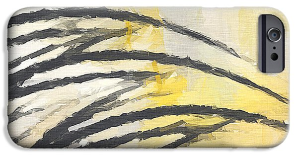 Yellow And Grey Abstract Art iPhone Cases - Love Of Neutrals iPhone Case by Lourry Legarde