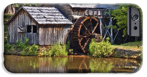 Mayberry iPhone Cases - Mabry Mill In Summer iPhone Case by Patrick M Lynch