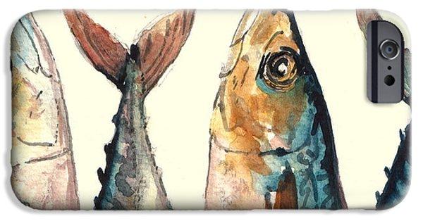 Animal iPhone 6 Case - Mackerel Fishes by Juan  Bosco