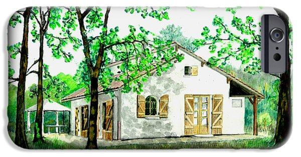 IPhone 6 Case featuring the painting Maison En Medoc by Marc Philippe Joly