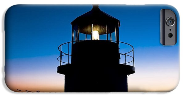 Ocean Sunset iPhone Cases - Marshall Point Lighthouse at Sunset in Maine iPhone Case by Keith Webber Jr