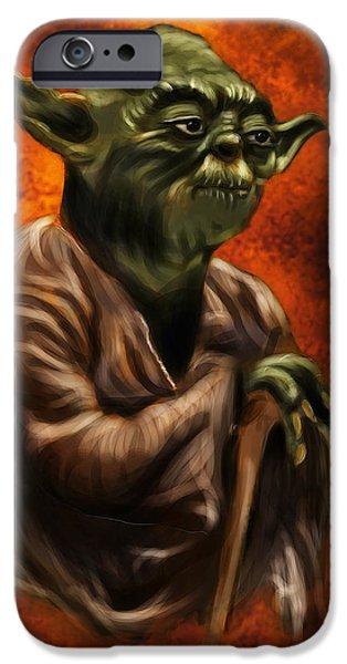 Yoda iPhone 6 Case - Master Jedi by Wesley S Abney