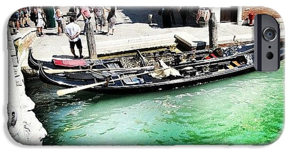 Green iPhone 6 Case - #mgmarts #venice #italy #europe #canal by Marianna Mills