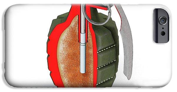 Safety Fuse iPhone 6 Case - Mk 2 Grenade by Mikkel Juul Jensen