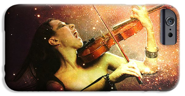 Music Explodes In The Night IPhone 6 Case by Linda Lees