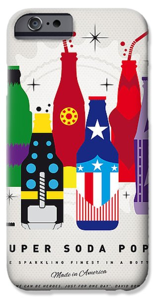 Superheroes iPhone 6 Case - My Super Soda Pops No-27 by Chungkong Art